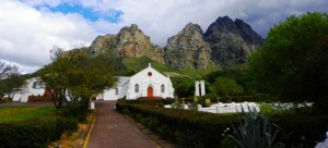 Pniel at the foot of the Simonsberg Mountains