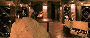 The impressive cellar at Boulders Singita