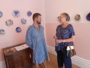 Owner Michael Chandler in his gallery @ Chandler House is always happy to chat.